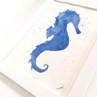 Quadro decorativo cavalo-marinho