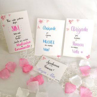 Kit papelaria casamento identidade visual feita à mão aquarela lettering