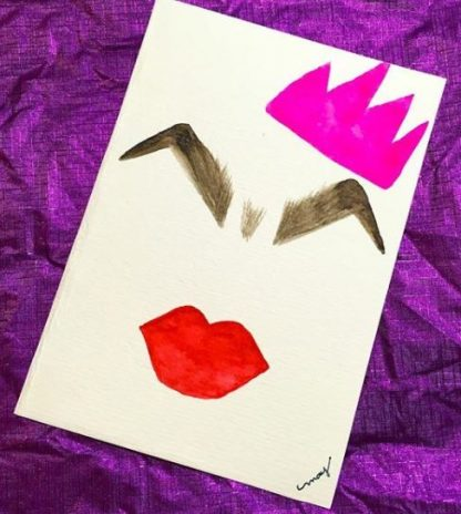Pingente personalizado com pintura personalizada sasha velour rupaul