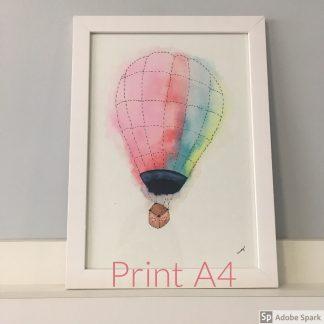 Quadro decoração quarto de bebê e criança balão colorido