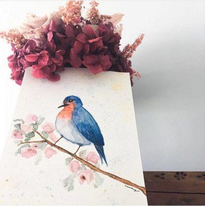 Decoração com quadrinhos arte aquarela pintura