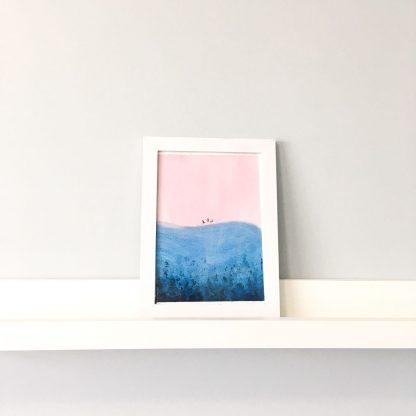 Decoração com quadros aquarela praia rosa Komodo viagens