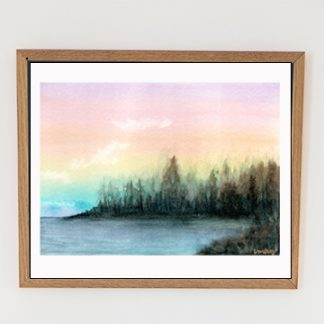 aquarela arco iris horizontal