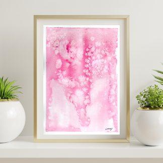 Pétala - Aquarela abstrata rosa