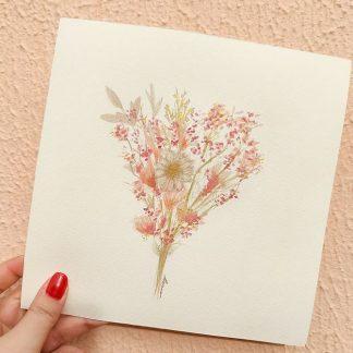 Pintura flores em aquarela