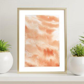 aquarela abstrata em aquarela laranja entardecer