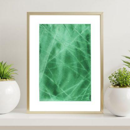 aquarela abstrata verde esmeralda