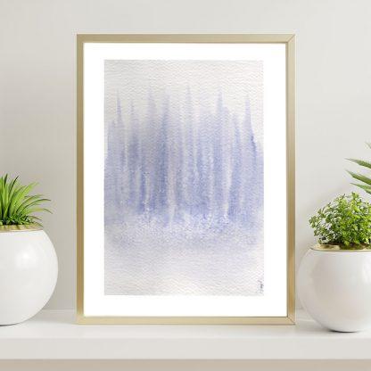 aquarela abstrata em aquarela lavanda lavandário lilás